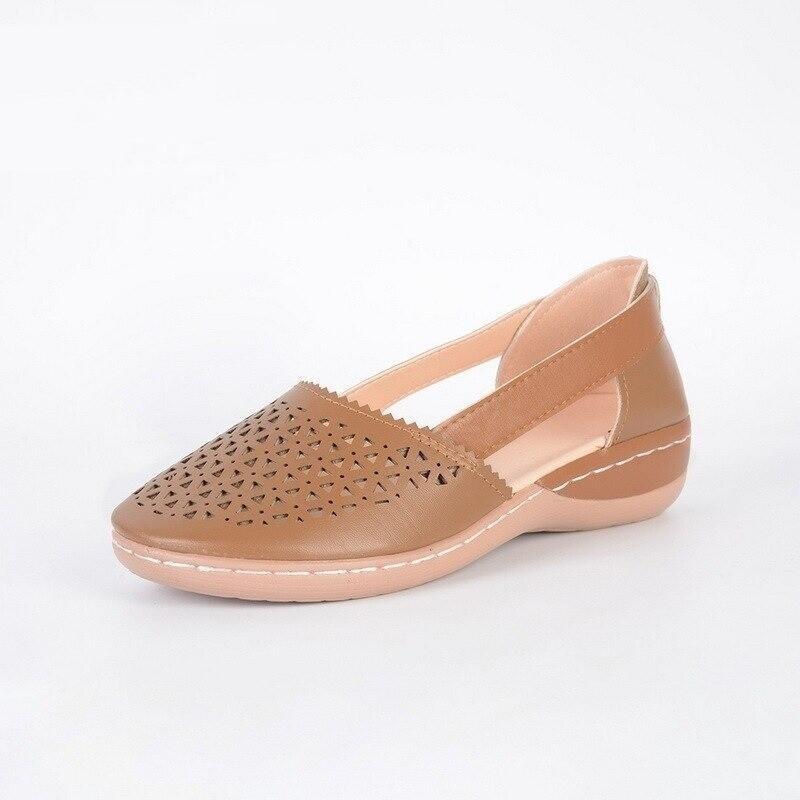 Women Wedges Orthopedic Hollow Out PU Closed Toe Vintage Platform Summer Women Sandals Flip-flop Chancla Slippers