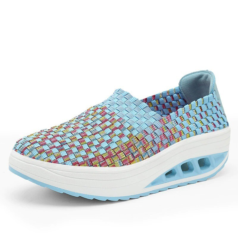 Comfy Breathable Thick Platform Women Walking Shoes Casual Sneakers