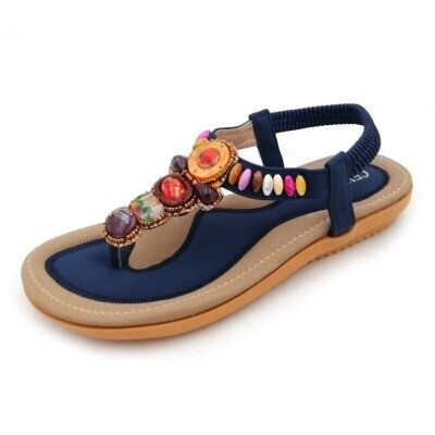 Premium Bohemia Bead Style Herringbone Women Sandals