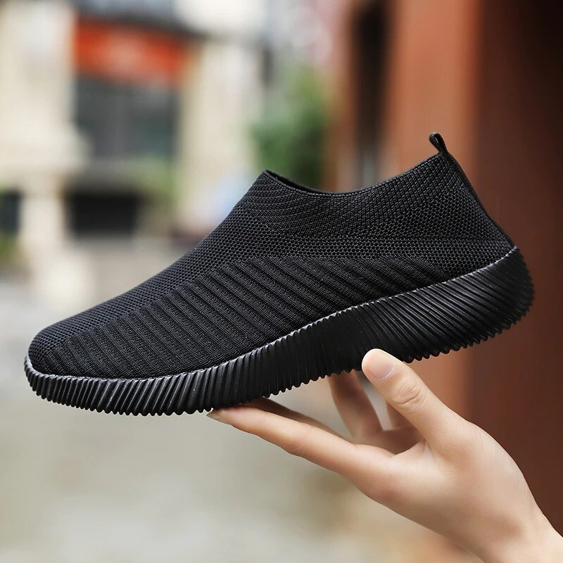 EVA High Quality Shoes Women's Crystal Breathable Slip On Walking Summer Shoes