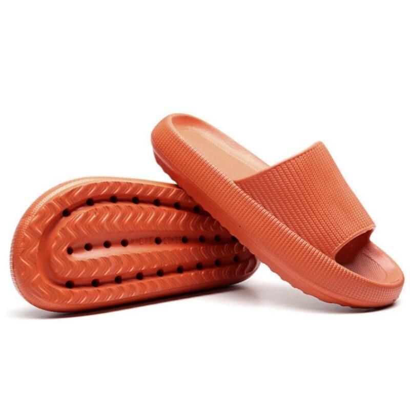 Comfy Thick Sole Home Non-slip Slippers Platform Summer Woman Girl Cute Design Sandals Chancla Flip-flop Thongs