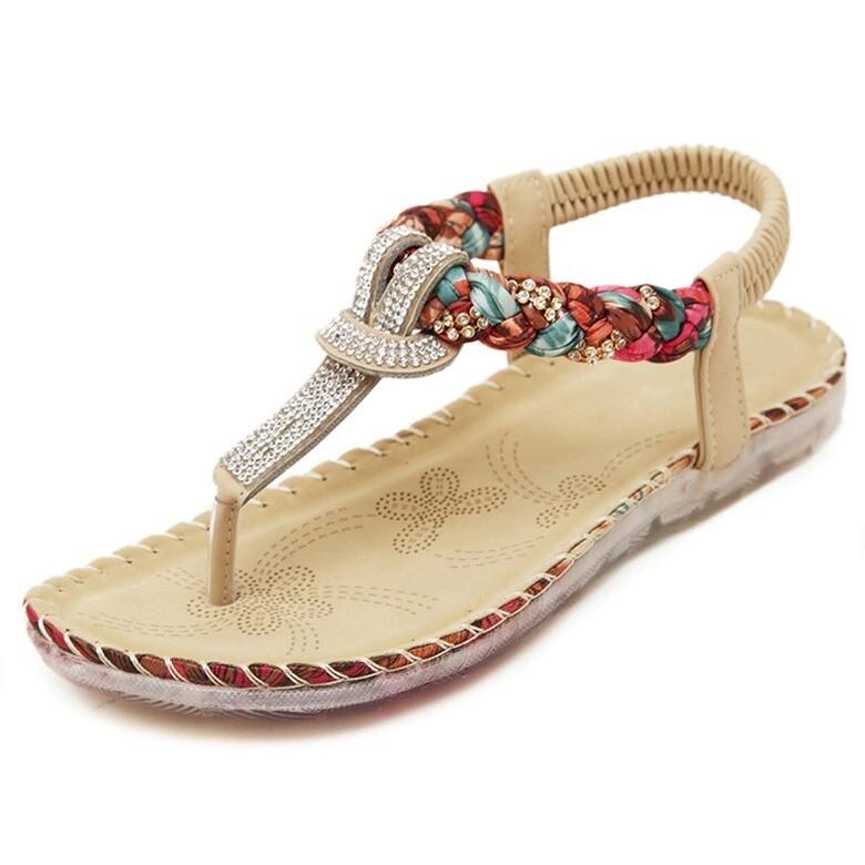 Premium Weave Style Rhinestone Women Sandals