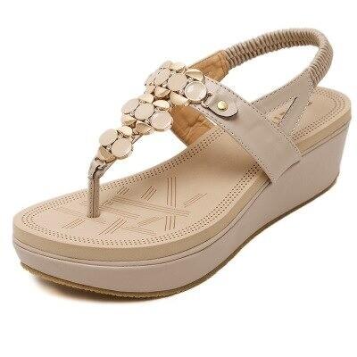 Premium Fashion Metal Buckle Thick Bottom Women Sandals
