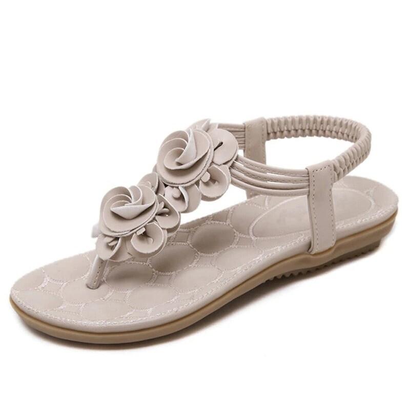 Premium Bohemia Flower Casual Beach Female Flat Sandals