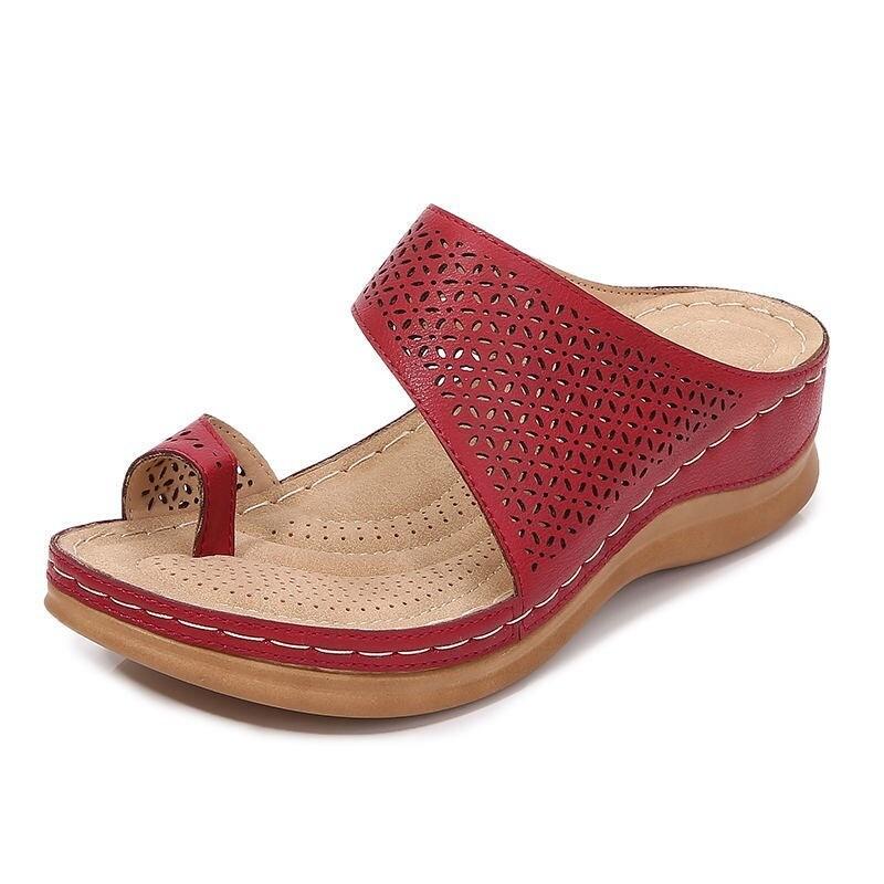 Women Sandals Comfy Platform Flat Sandals Orthopedic Bunion Corrector