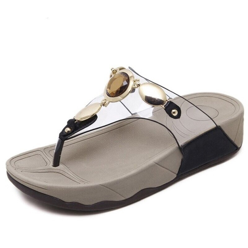 Premium Transparent Crystal Woman Sandals Casual Slippers