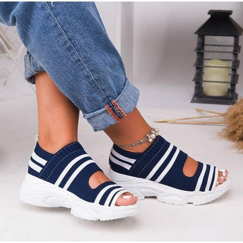 Premium Casual Breathable Wedge Comfy Sandals Wide Foot Platform Summer Women Sandals Flip-flop Chancla Slippers