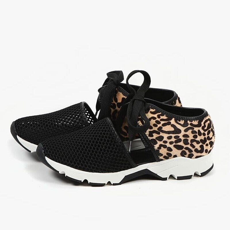 Women Hollow-out Cute Sneakers Mesh Breathable Sports Shoes