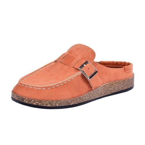 Leather Slip-On Platform Summer Cute Women Sandals Closed Toe Sandals Chancla Slippers Design
