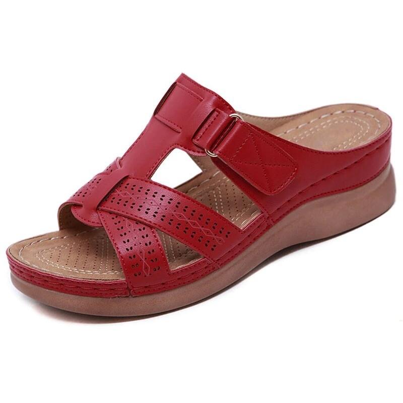 Premium Orthopedic Open Toe Platform Summer Women Sandals Flip-flop Chancla Slippers Gladiator