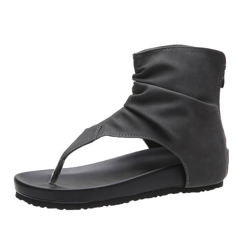 Women's Retro Gladiator Ladies Clip Toe Vintage Boots Casual Summer Sandals