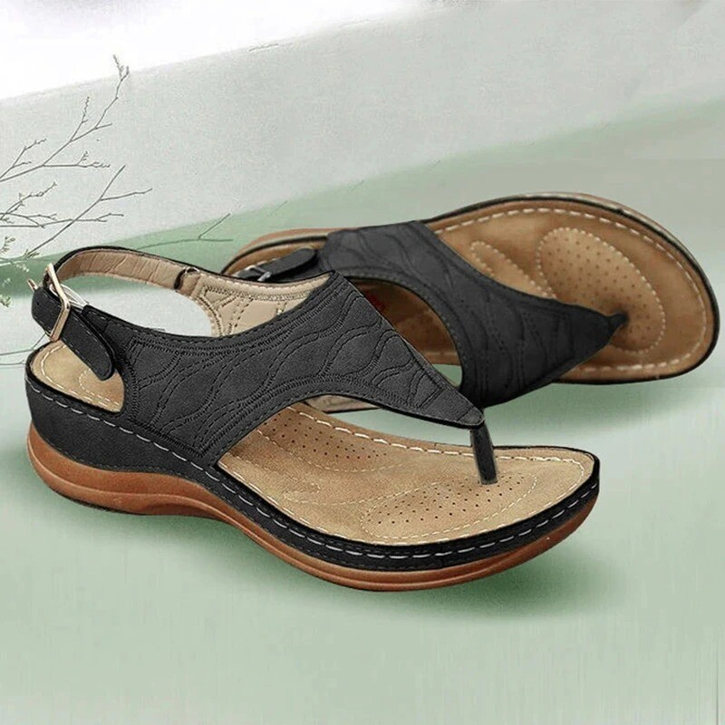 Orthopedic Comfy Slipper Chancla Wedge Walking Leather Platform Summer Women Sandals Flip-flop Slippers