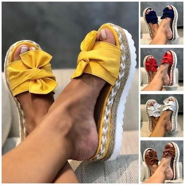 Casual Platform Daily Comfy Memory Flower Sandals Summer Women Sandals Flip-flop Chancla Slippers