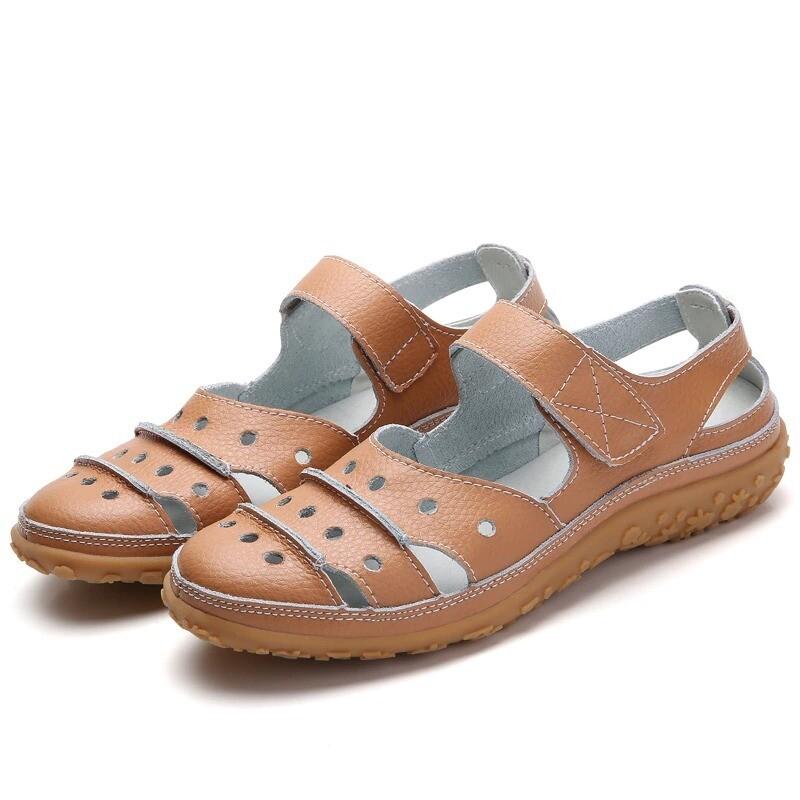 Hollow Hook Flat Orthopedic Arch-Support Platform Summer Chancla Slippers Closed Toe Women Sandals Flip-flop