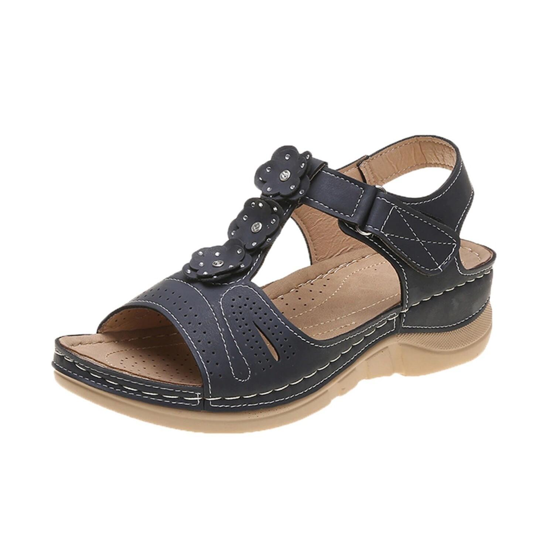 Flower Women Sandals Comfy Orthopedic Arch-Support Wedges Platform Summer Cute Women Sandals Flip-flop Chancla Slippers