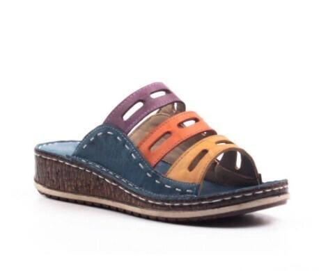 Women Wedges Platform Summer Cute Girl Design Orthopedic Wide Width Sandals Flip-flop Chancla Slippers