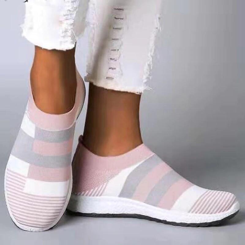 Women Vulcanized Casual Walking Mesh Sneakers Plus Size