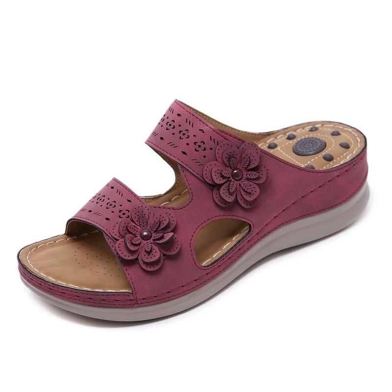 Vintage Massage Orthopedic Comfy Platform Summer Women Cute Girl Design Sandals Flip-flop Slippers Chancla
