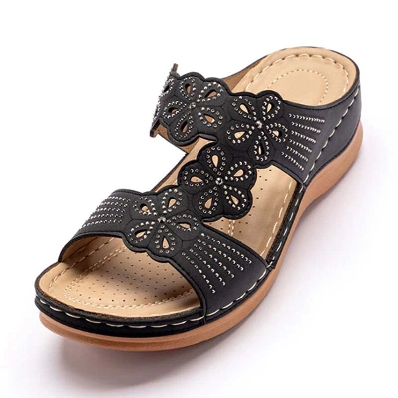 Comfy Woman Sandals Soft Bottom Summer Casual Orthopedic Sandals Slip On Open Toes