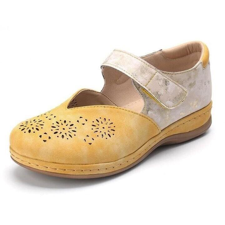 Summer New Fashion Leather Orthopedic Women Slip On Shoes