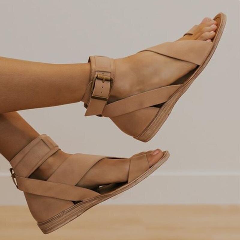 New Summer Women Flat Sandals Open Toe Casual Roman Style