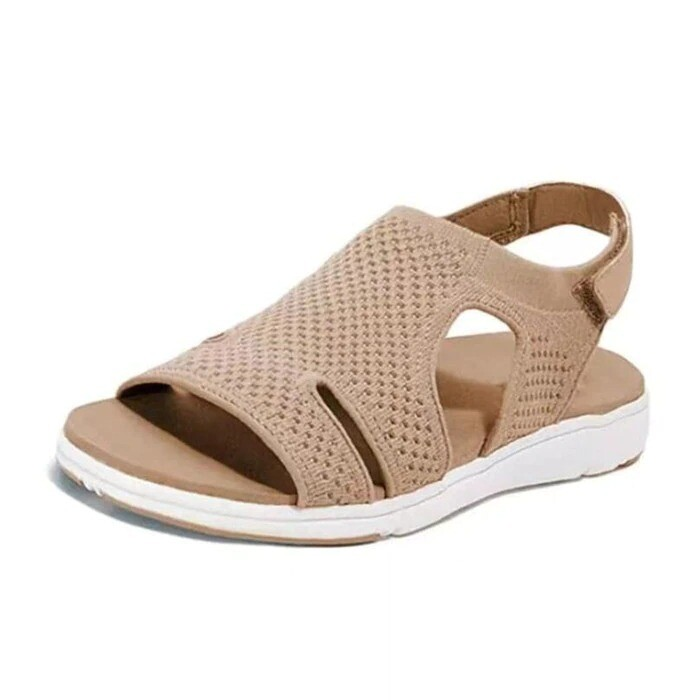 New Summer Women Sandals Crystal Casual Comfortable Flats Buckle Strap Fashion Beach