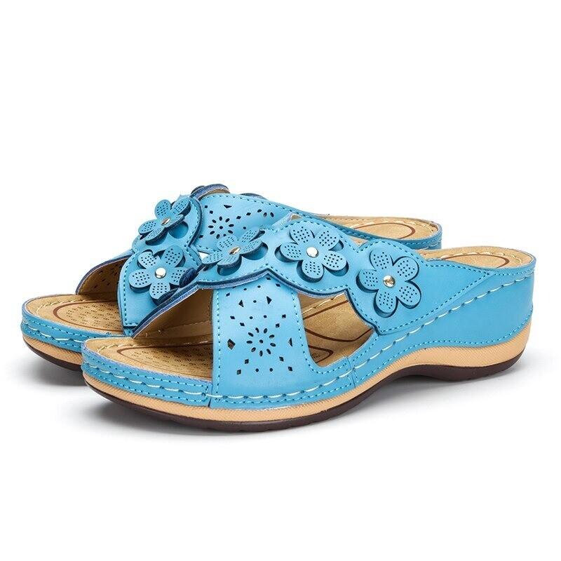 EVA Women Soft Leather Comfortable Vintage Sandals
