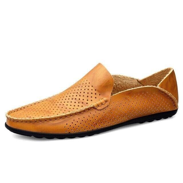 Premium Men Genuine Leather Loafers Breathable Design