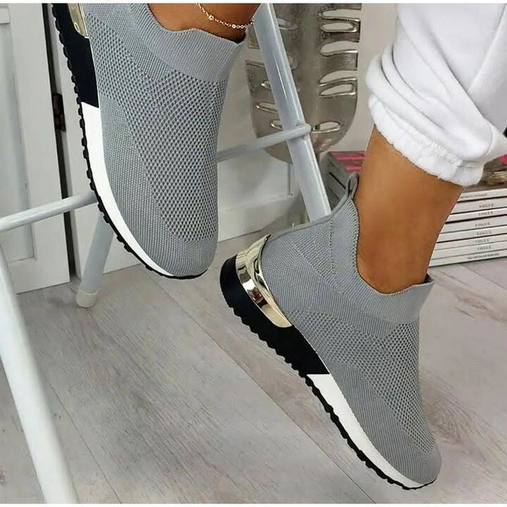 Women's Athletic Fabric Slip-On Arch Support Air Cushion Orthopedic Sneakers  Design