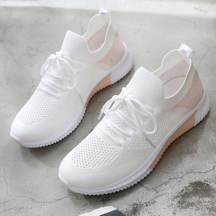 Women Breathable Mesh Light Sneakers Hollow Modern Comfortable Shoes Design