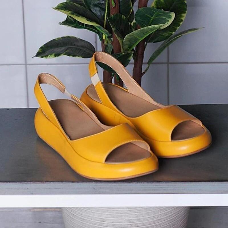 New Women Summer Open Toe Comfortable Casual Platform Sandals