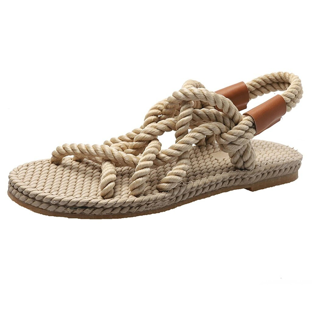 New Women Summer Braided Rope Unique Casual Comfortable Sandals Design