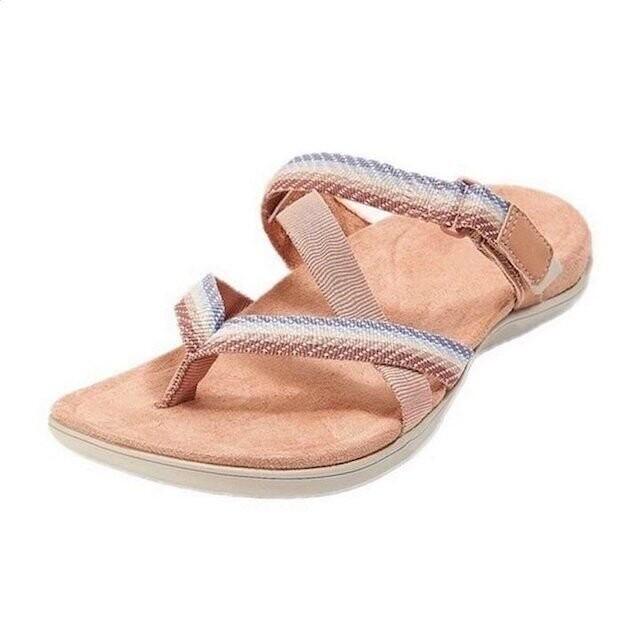 Leisure Women Open Toe Arch Support Summer Soft Sole Sandals Flip Flops