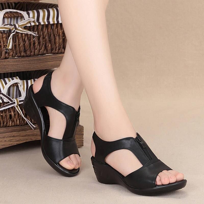New Summer High Heels Sandals For Women Open Toe Cut-Out Design