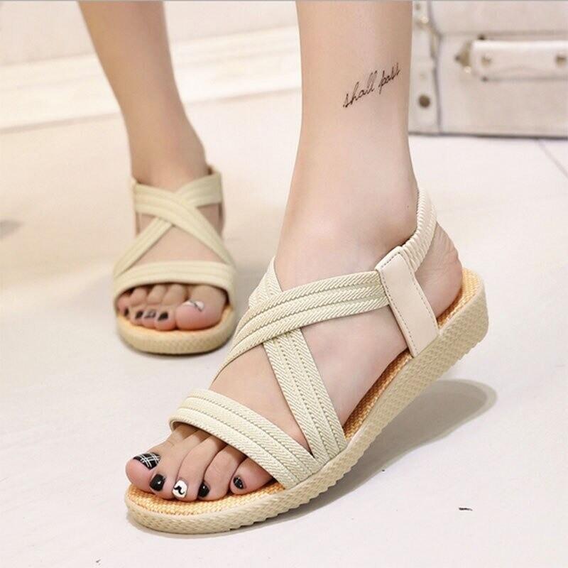 Summer Casual Cross Tied Comfortable Women Platform Sandals Design