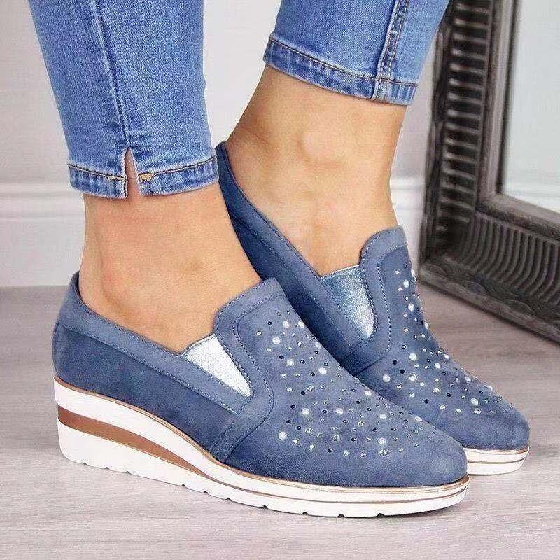 Women Summer Comfortable Unique Crystal Shoe Design Loafers Fashion Shoes