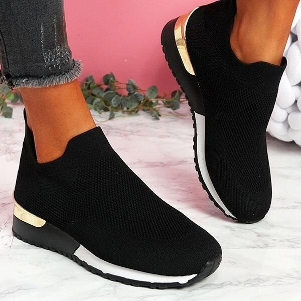 Women New Summer Flyknit Shoes Comfortable Sporty Look Design Sport Shoes