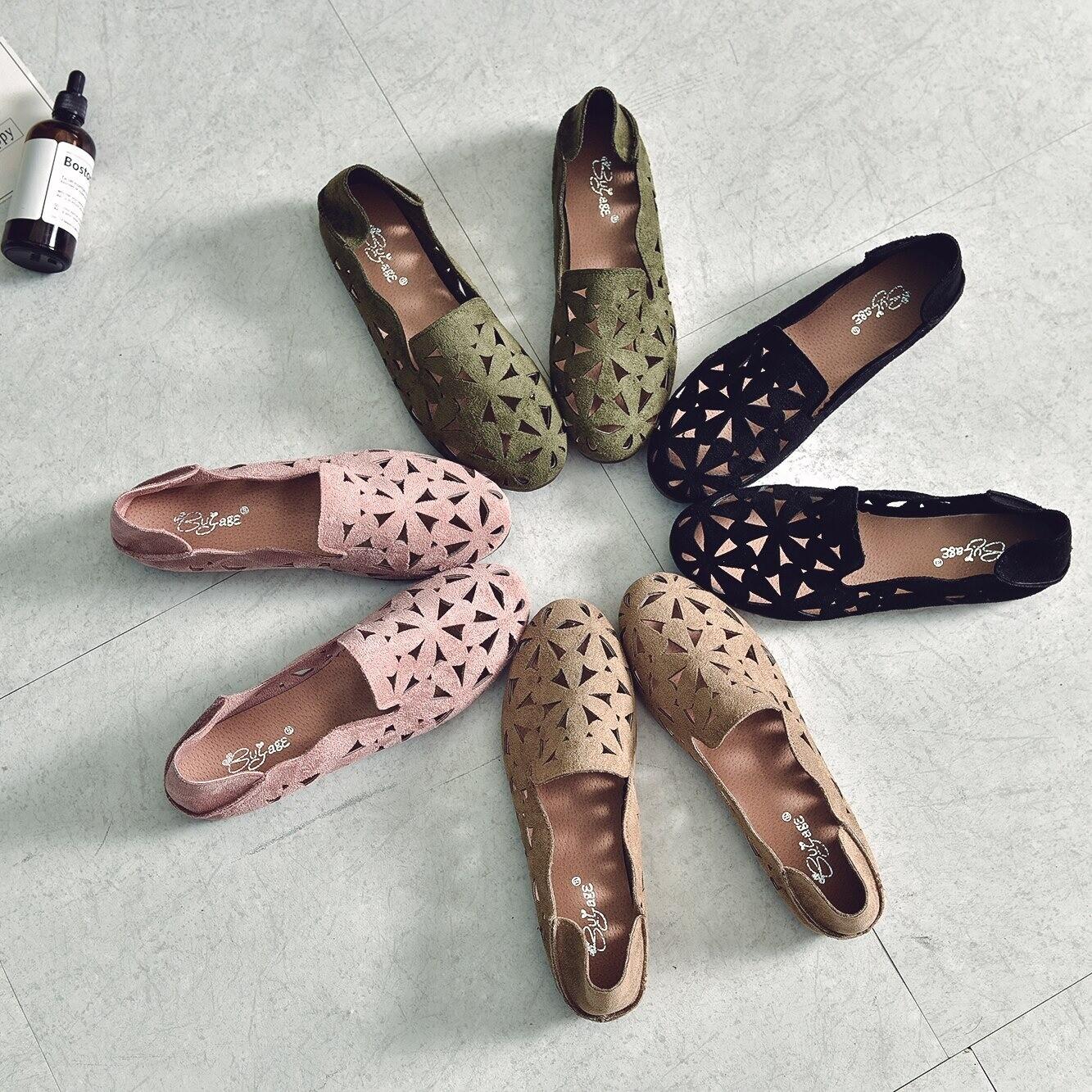 Summer Women Unique Design Breathable Loafers Ballet Flats
