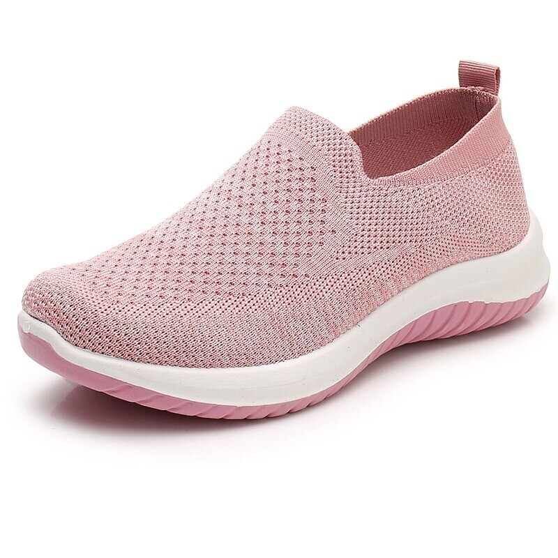 Women Knitting Mesh Hollow  Slip-On Mesh Loafers Comfortable Summer Shoes