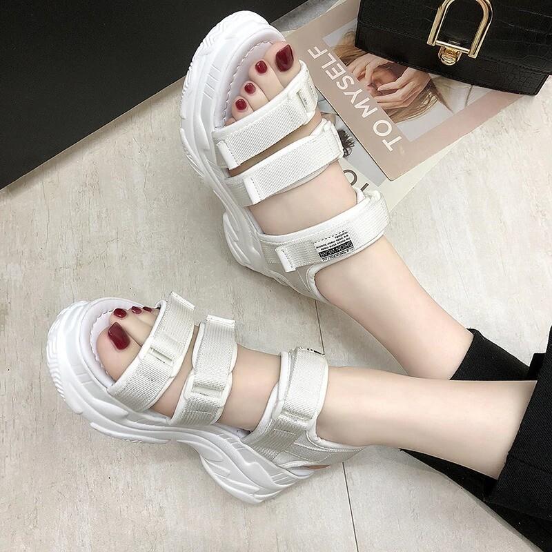 Gladiator Platform Women's Sandals Summer Fashion Chunky Beach Denim Comfortable