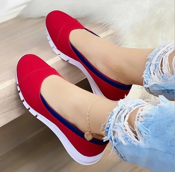 Women's Handmade Orthopedic Comfortable Casual Loafers Classic Fashion Non-slip Cloth Shoes