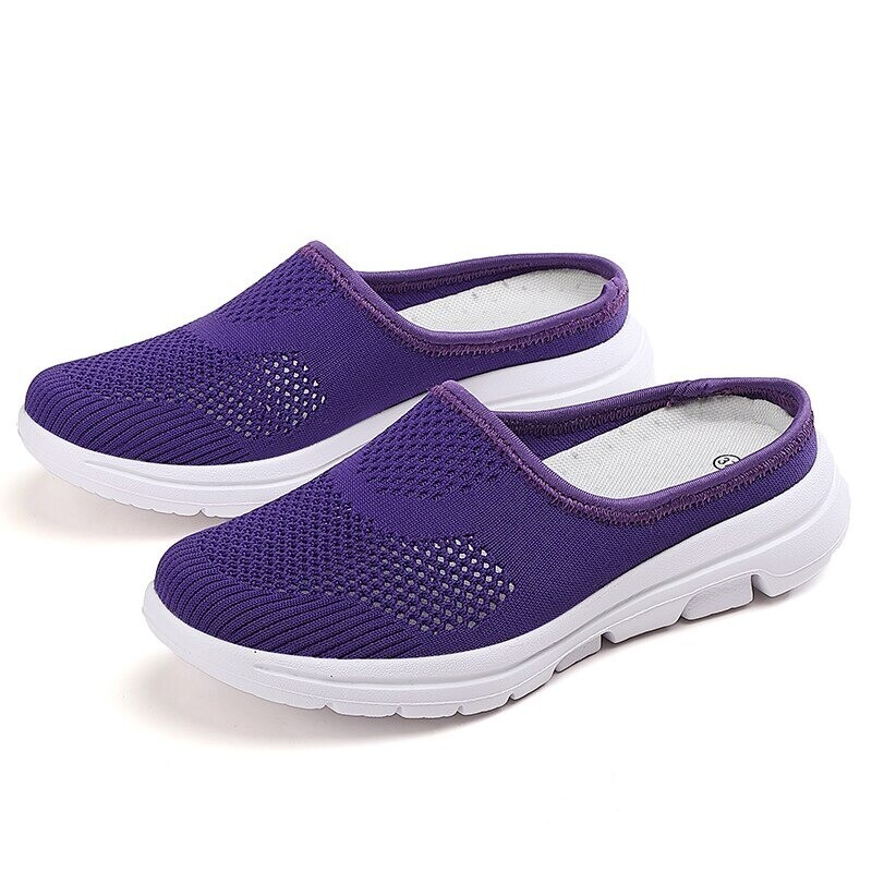 Unisex Summer Casual Slip On Half Shoes Summer Casual Mesh Comfortable Shoes