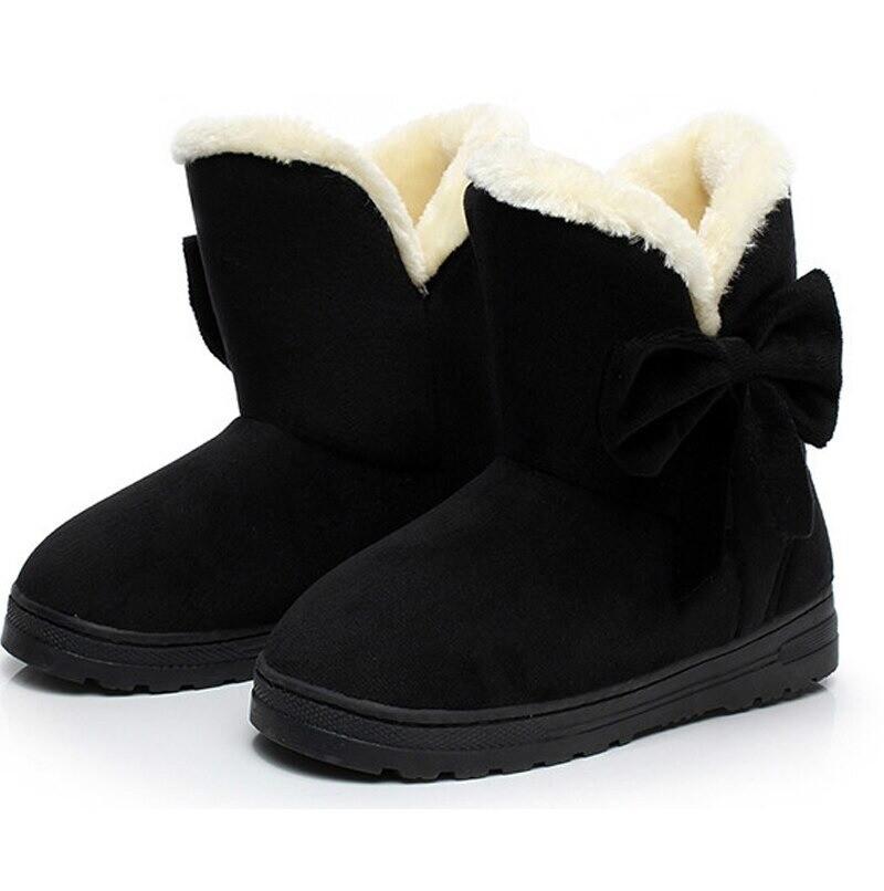 Women Snow Ankle Non Slip Plush Boots