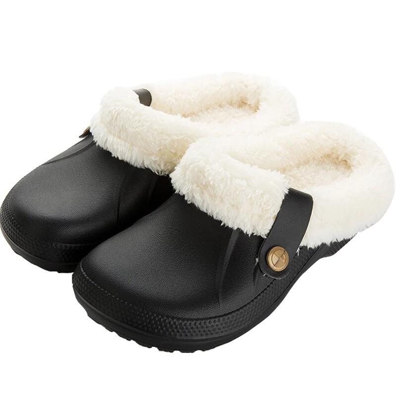 I'm Home Indoor Women and Men Waterproof Fur Winter Slippers