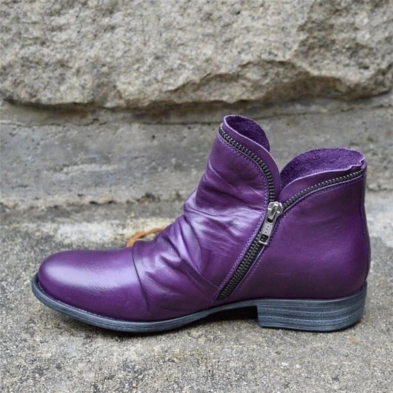 Cosy PU Leather Ankle Boots