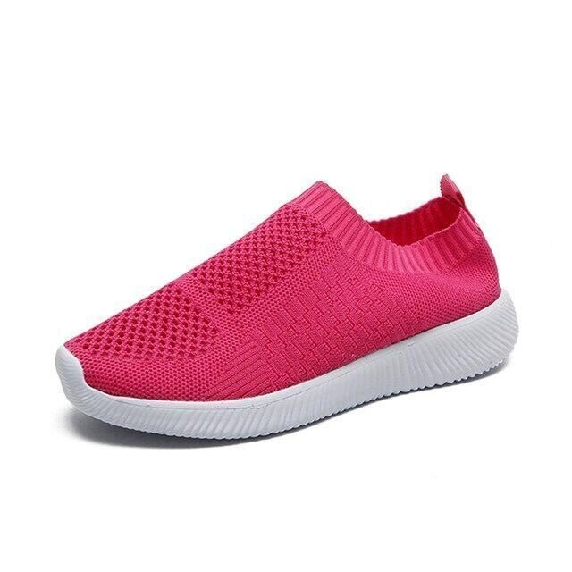 Orthopedic Mesh Women Casual Flat Shoes Flyknit Breathable Summer