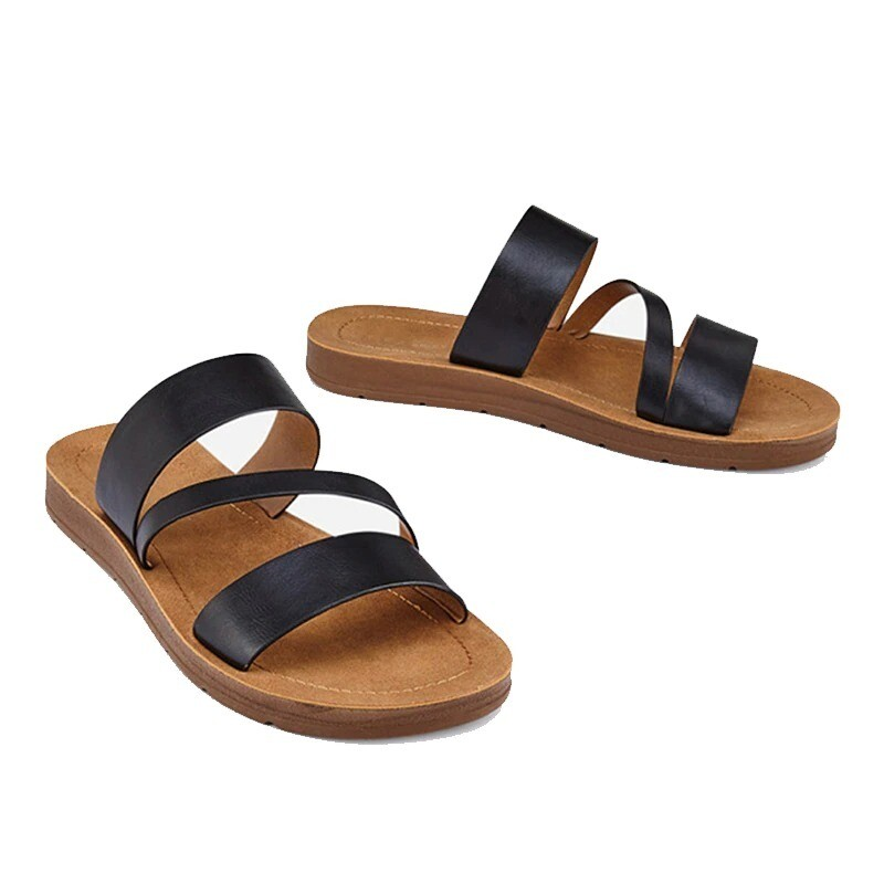 Summer Women Casual Slippers Rome Retro Thick Bottom Open Toe Sandals Beach Slip On Design