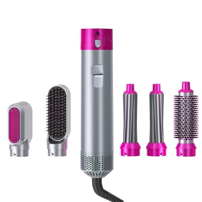 Professional 5in1 Hair Dryer Brush Straightener Electric