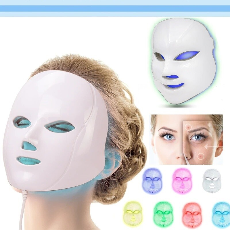 Light 7 Colors Face LED Therapy Mask