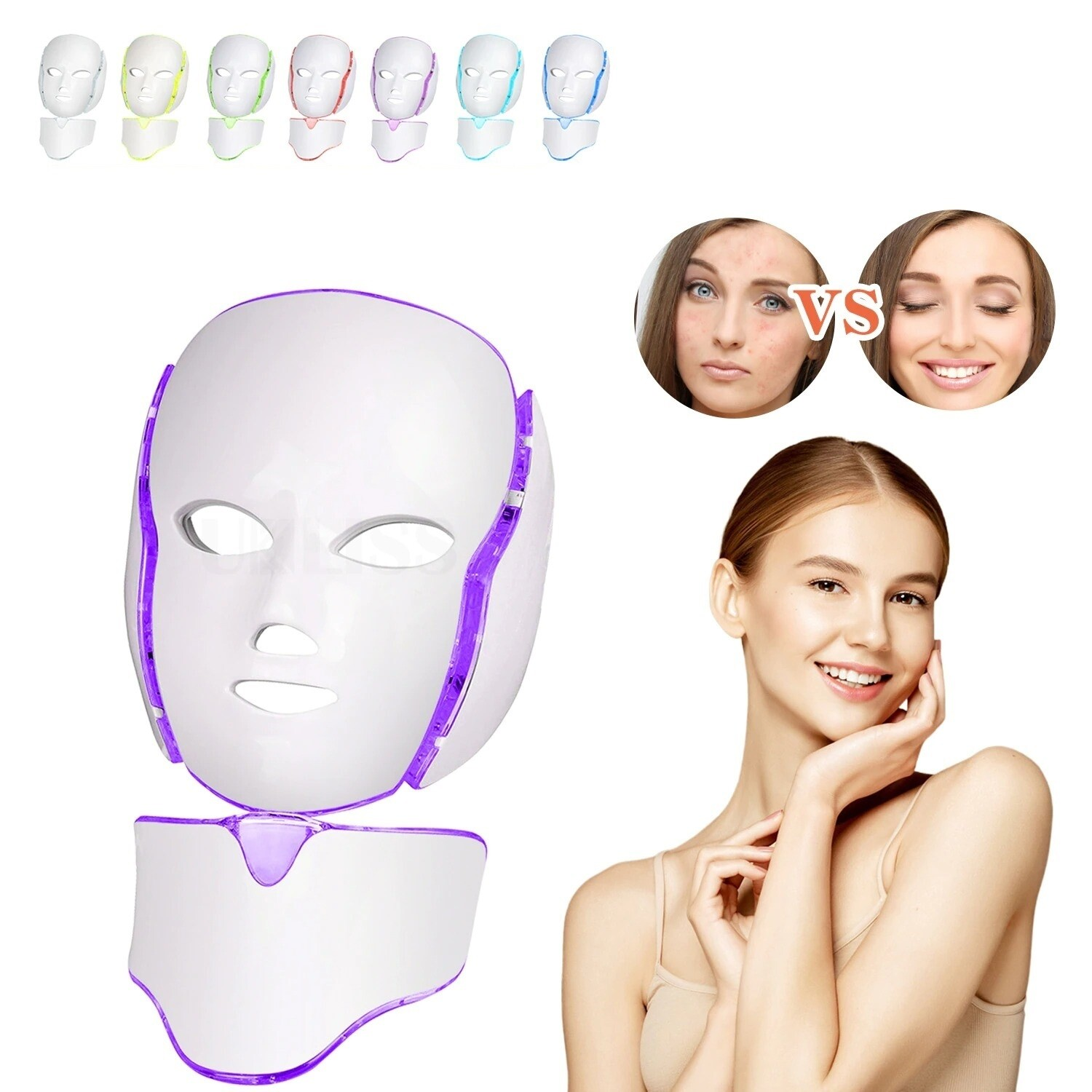 LED Facial 7 Colors Therapy Mask